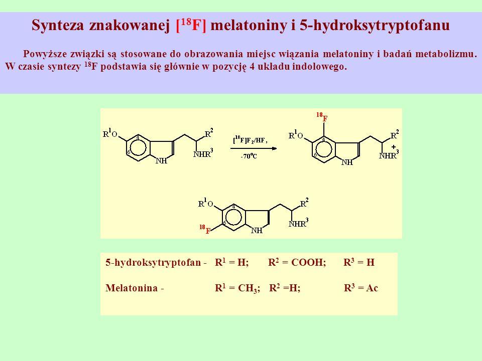 Synteza znakowanej [18F] melatoniny i 5-hydroksytryptofanu